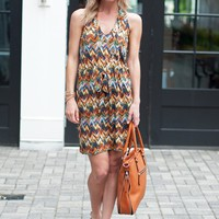 Veronica M Wesley Dress Chevron Print - $92.00 | Hand In Pocket Boutique