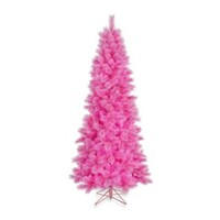 Vickerman 7.5-Foot Pink Cashmere Pencil Tree with Pink Lights