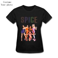 Womens T-Shirt Spice Girls Customized Unique Geek Clothes Sexy Short Sleeve Femme Tops mujer unicorn unicornio horse licorne ftp