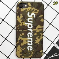 Supreme & The North Face New fashion letter print camouflage couple protective cover phone case 2#