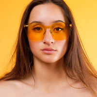 Wesley Rimless Sunglasses | Yellow