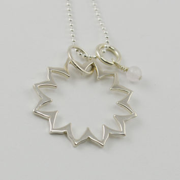 Heart Chakra Necklace in Sterling Silver