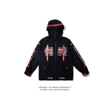 Casual Jacket Vintage Hip-hop Couple Windbreaker [350389895204]