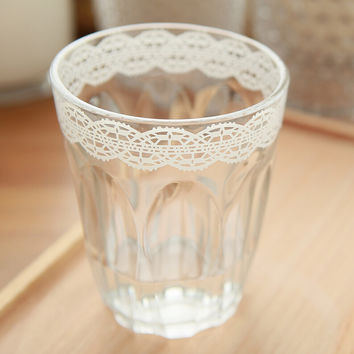 lace glass mug