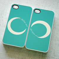 Follow Me I'll Follow You Monogrammed Infinity iPhone 5 Cases - Color like Tiffany Blue