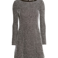 H&M - Herringbone Dress - Gray melange - Ladies