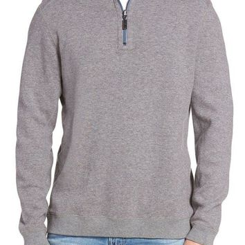 ICIKHB3 Tommy Bahama | Flip Side Reversible Quarter Zip Twill Pullover