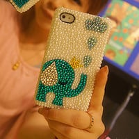 iphone case iphone 4 case bling iphone 4s case Pearl iphone case Pearl iphone 4 case crystal bling iphone case cute iphone case cover