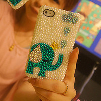 iphone 5 case - iphone 4 case bling iphone 4 case - Pearl iphone 5 case Pearl iphone 4 case crystal iphone 5 bling case cute iphone 4/5 case