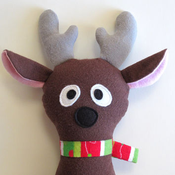 Doe a Reindeer Pattern Stuffed Animal PDF Sewing Pattern Christmas Holiday Softie Toy Quick Delivery