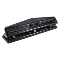 Office Depot Brand 3 Hole Adjustable Punch Black by Office Depot & OfficeMax