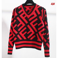 Fendi Fashion New More Letter Print Long Sleeve Top Sweater 4#