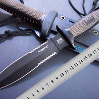 Hot sale! Factry price SOG D25 hunting knife Saw Blade Fixed Blade Outdoor Tactical Survival Knife Outdoor gear cutting tool Best gift