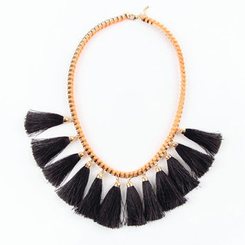 Tassel Neon Orange Necklace