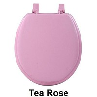 Ben&Jonah Collection Fantasia 17 Inch Tea Rose Soft Standard Vinyl Toilet Seat