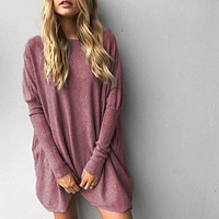 Sweater Women Long Sleeve Plus Size Pullovers  Elegant Loose
