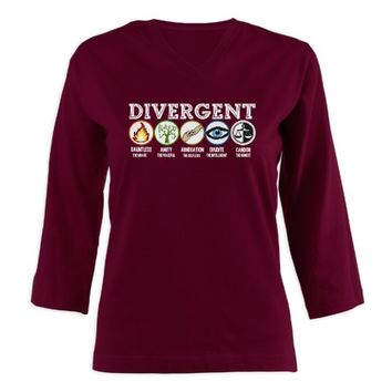 Divergent Symbols Women's Long Sleeve Shirt (3/4 Sleeve)
