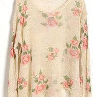 "WAS $48! The ""Flower Child"" Distressed Sweater"