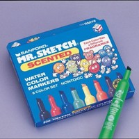 Mr. Sketch Watercolor Scented Marker Set, 4-7/8 x 3/4 in, Assorted Colors