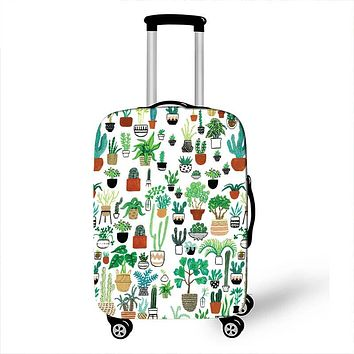 Cactus Print Travel Luggage Covers