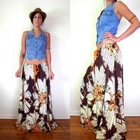 Upcycled Vintage Floral Maxi Skirt