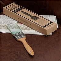 TWO'S COMPANY PAINT BRUSH MAGNIFIER - PINE WOOD/GLASS