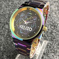 KENZO Fashionable Boys Girls Movement Quartz Watch Couple Wristwatch