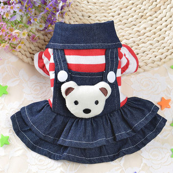 Lovely Pet Dog Clothes Puppy Hoodies Coat Jacket for Dog Small Big Bear Costume Spring Autumn Warm Pet Cat Dress Teddy Clothes25