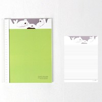 Adorable Koala Bear Patterned Lined Notebook Notepad | Cute School Supplies