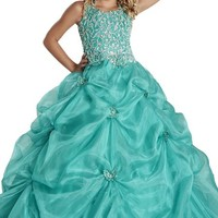 Wealth Girls' Halter Vest Ball Gown Pageant Dresses