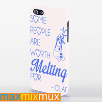 Disney Olaf Frozen Quotes iPhone 4/4S, 5/5S, 5C Series Full Wrap Case
