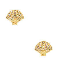 Kate Spade Shore Thing Clam Studs Clear/Gold ONE