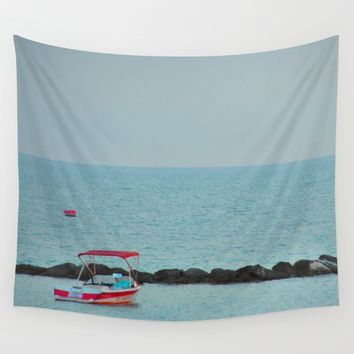 Between Sea and Sky Wall Tapestry by Azima