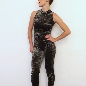 Vintage 80s 90s Adult Dance Costume Snake Print One Piece Unitard Workout Leotard Aerobics Active wear Bodysuit Velvet Reptile Punk Rockstar