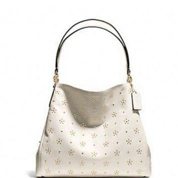 ONETOW Coach All Over Stud Phoebe Shoulder Bag in Calf Leather