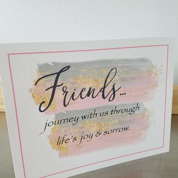 Friend art print unframed poster friend birthday gift