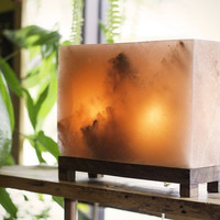 HIMALAYAN RECTANGLE SALT LIGHT - AMBER