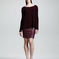 THE ROW Stretch-Leather Miniskirt