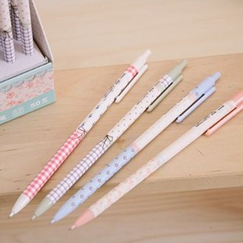 MiiSii(TM) 8pcs Cute Novelty Cartoon Pastoral Flower 0.5mm Refill Mechanical Pencils Set + FREE GIFT