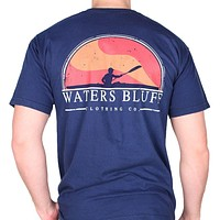 Paddler Tee Shirt in True Navy by Waters Bluff
