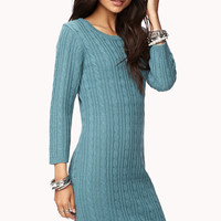 Essential Cable Sweater Dress