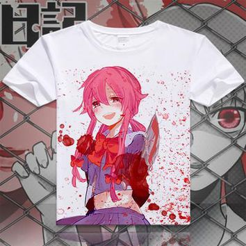 Future Diary Short Sleeve Anime T-Shirt V16