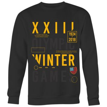 XXIII Olympic Winter Games Men's Sweatshirt
