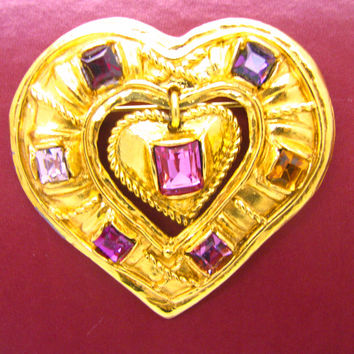 CHRISTIAN LACROIX, vintage collector brooch / pendant circa 1980