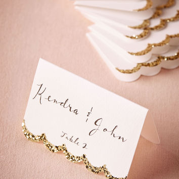 Glitter-Dipped Place Cards (10)
