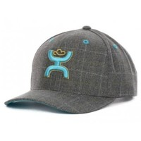 HOOey Cap Tito Turquoise and Grey Trucker Style Cowboy Cap