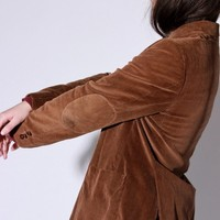 Brown Corduroy Patch Blazer / M L