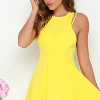 Thrill Chic-er Yellow Dress