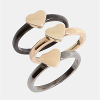 Topshop 'Trellis' Assorted Rings (Set of 3) | Nordstrom