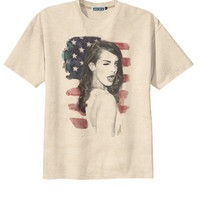Retro Lana Del Rey Us Flag Rock T-Shirt Tee Organic Cotton Vintage Look Size S M L